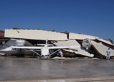Hurricane Wilma struck Boca Raton Airport (BCT) in 2005, upturning fleets of aircraft and destroying hangars