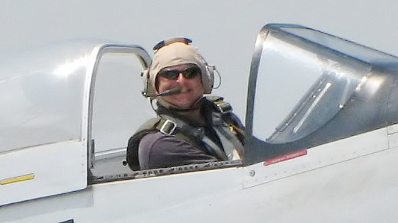 This is the smile you get when you fly a p51 Mustang for a living